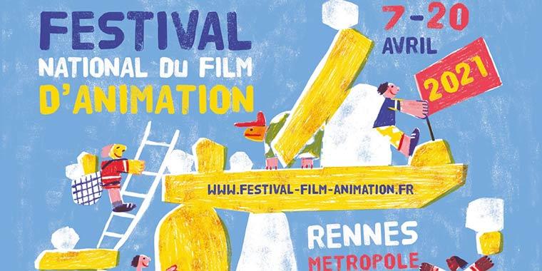 Affiche Festival national du film d'animation par Emilie Pigeard