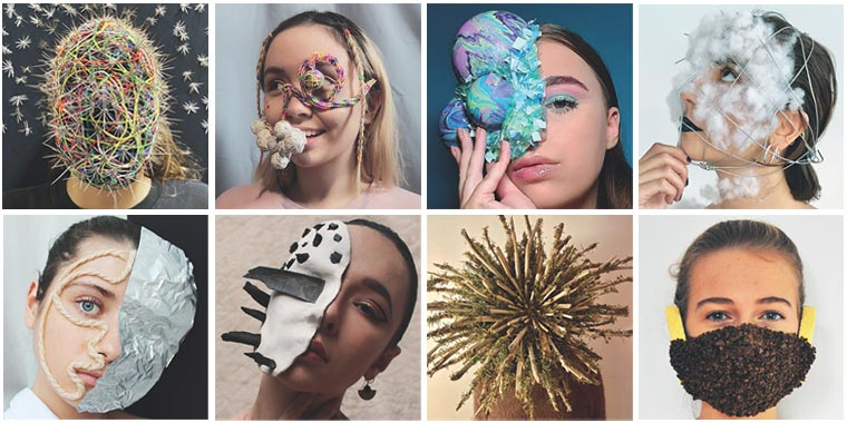 Atelier scénographie masques autoportrait - Archi design